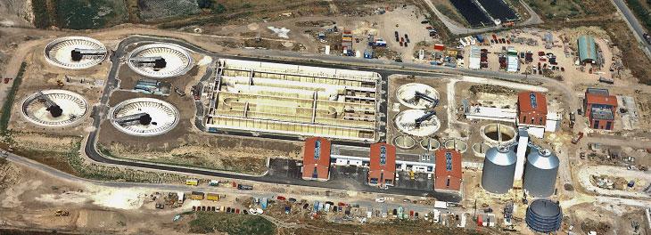 Klärwerk Wansdorf in der Bauphase